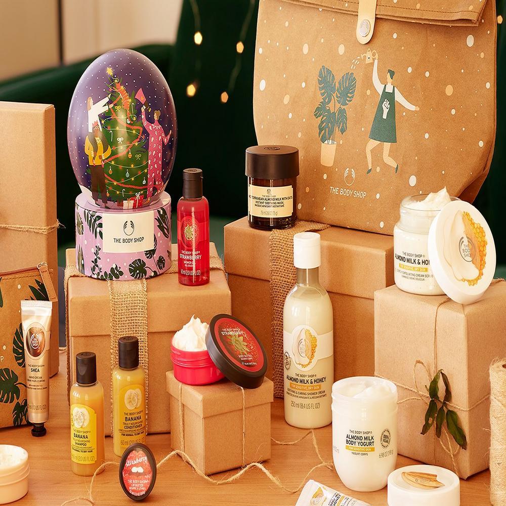 Nachhaltige Verpackungen und Geschenke von The Body Shop